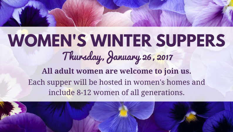 Women's Winter Suppers