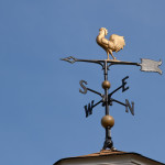 weathervane, gold rooster